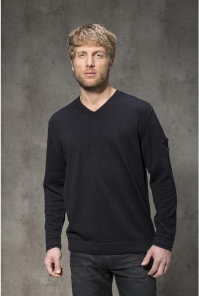 V-Neck-Pullover BVB Baumwolle schwarz