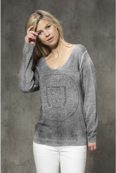Sommer-Cashmere-Pullover anthrazit