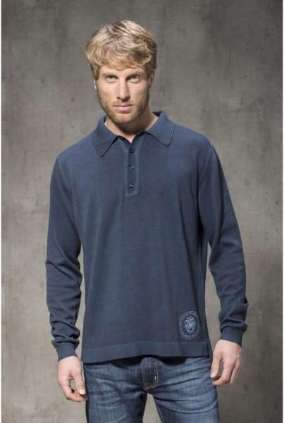 Polo Shirt Langarm marine