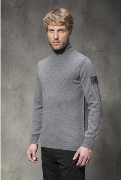 Cashmere Rollkragen Pullover grau