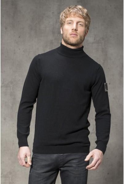 Cashmere Rollkragen Pullover schwarz