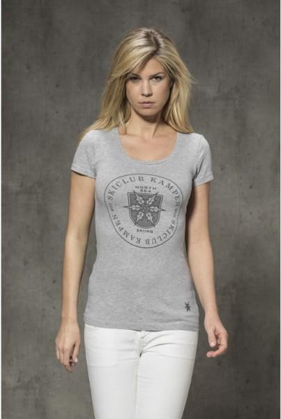 T-Shirt mit Frontprint grau