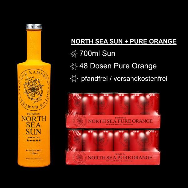 North Sea Set Sun Orange