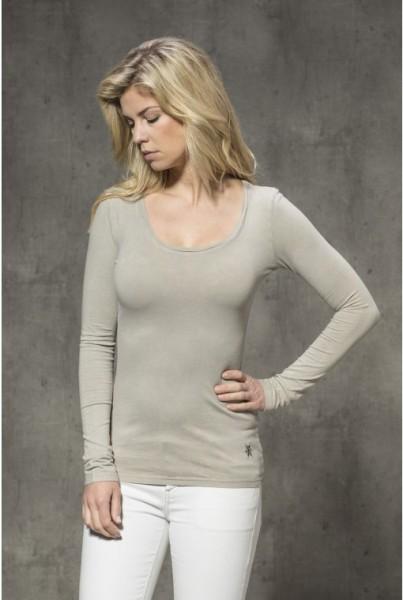 Unifarbenens Langarm-Shirt pallet