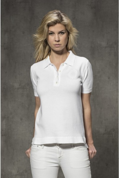 Damen-Polo-Shirt weiss