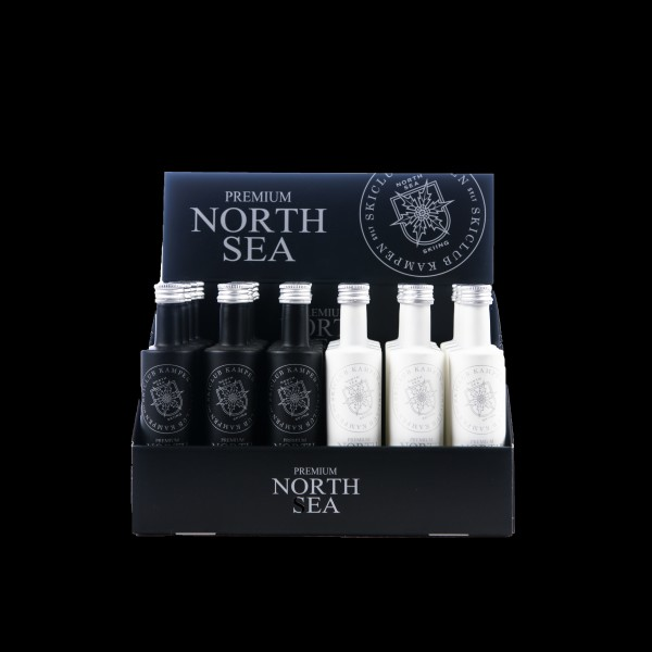 2x24er Karton 2-fach sortiert North Sea Gin+North Sea Vodka 0,05l Miniflaschen