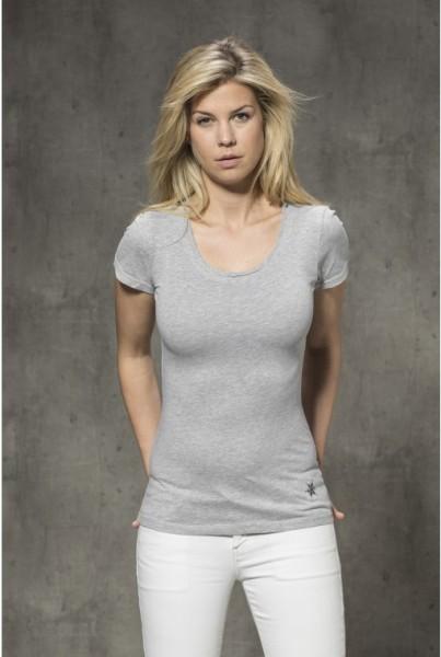 Kurzarm-T-Shirt uni grau