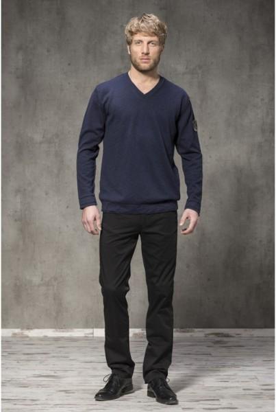 V-Neck-Pullover Baumwolle blau